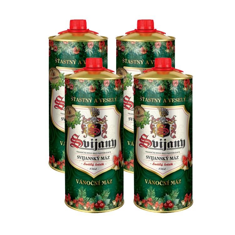 Osm litrů piva Svijany v plechovkách