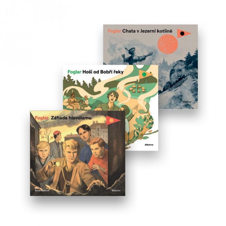 Audioknihy Záhada hlavolamu, Hoši od bobří řeky a Chata v jezerní kotlině v hodnotě 1 221 Kč