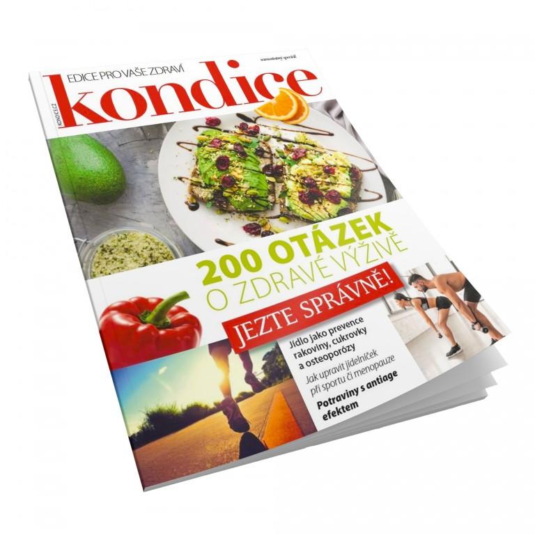 Speciál Kondice 200 otázek o zdravé výživě v hodnotě 79 Kč