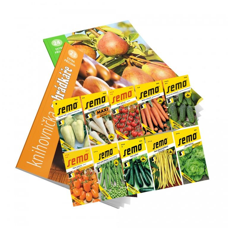 Dárkové balení 10 sáčků osiv SEMO Smržice pro darovací předplatné
