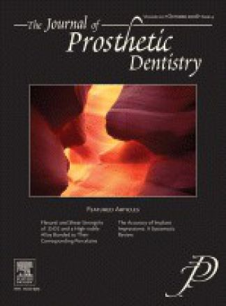Journal of Prosthetic Dentistry 1/2014