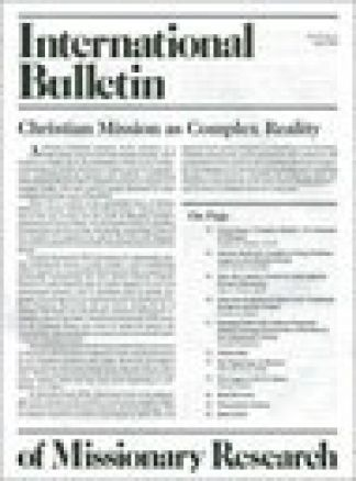Intl. Bulletin Of Missionary Research 1/2014