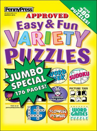 Approved Easy & Fun Variety Puzzles 1/2014