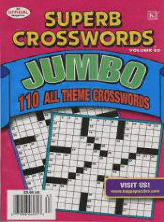 Superb Crosswords Jumbo 1/2014