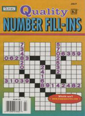 Quality Number Fill-Ins 1/2014