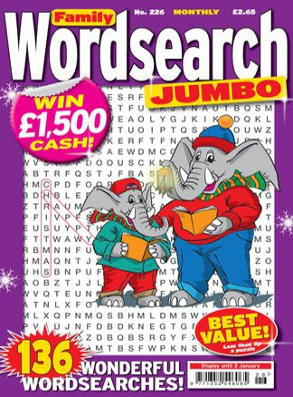 Family Wordsearch Jumbo 2/2014