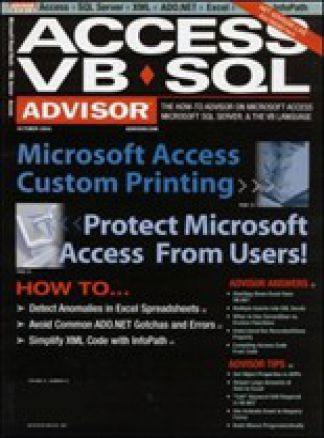 Access-VB-SQL Advisor Magazine 1/2015