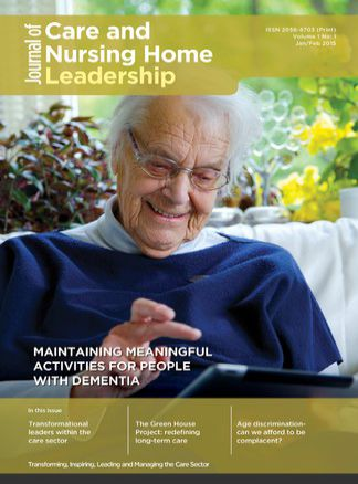 Journal of Care and Nursing Home Leadership 1/2015