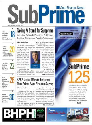 Subprime Auto Finance News 1/2015