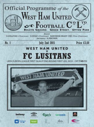 West Ham United Official Matchday Programme 1/2015