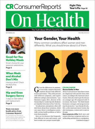 Consumer Reports On Health 1/2016