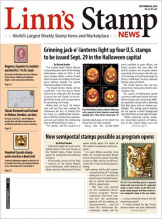Linn's Stamp News 9/2016